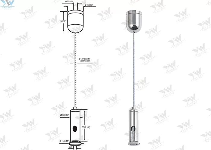 Quick Installation LED Panel Light Suspension Kit For