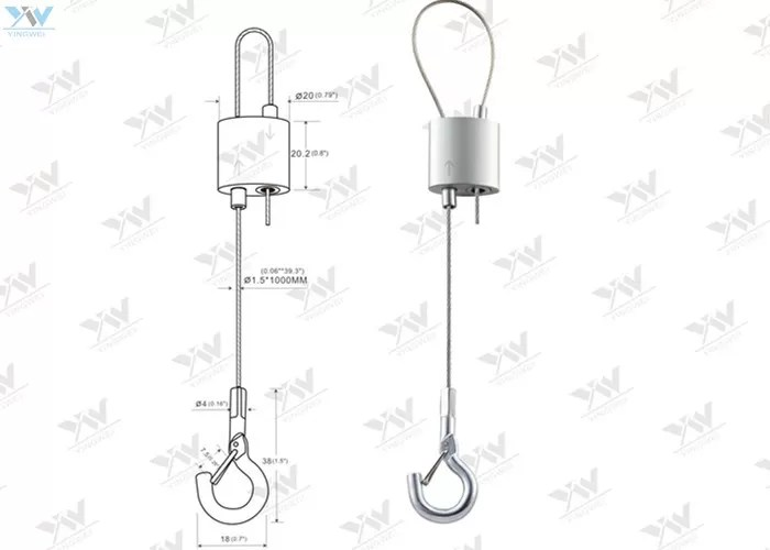 Self Lock Cable Suspension Fittings Fast Installation Wire