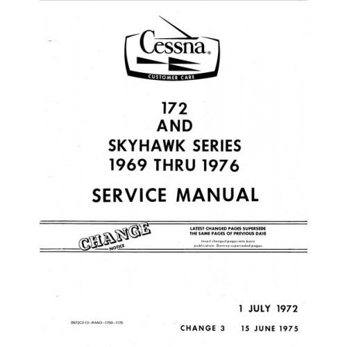 Cessna 172 and Skyhawk Series Shop Service Repair Manual