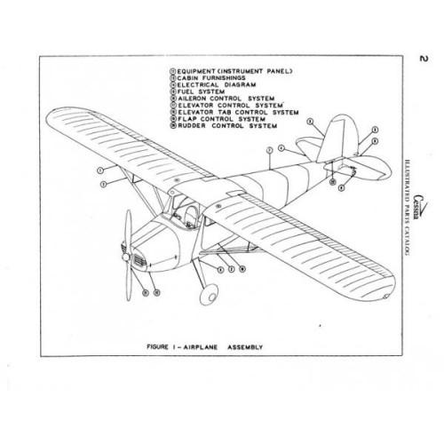 Cessna 170 Parts Catalog 1958