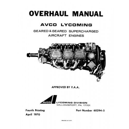 Lycoming 60294-5-6 Geared and Geared Supercharged Aircraft