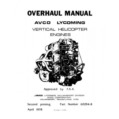 Lycoming 60294-8 Vertical Helicopter Engines Repair