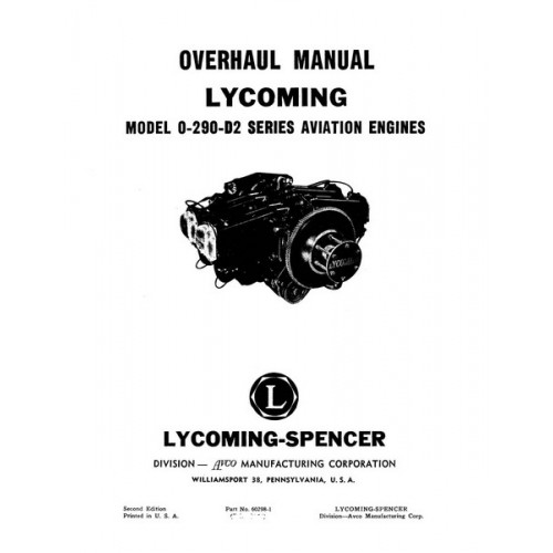 Lycoming 60298-1 Aviation Engines Repair Overhaul Manual