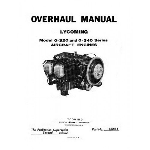 Lycoming O-320 and O-340 Series Aircraft Engines Repair