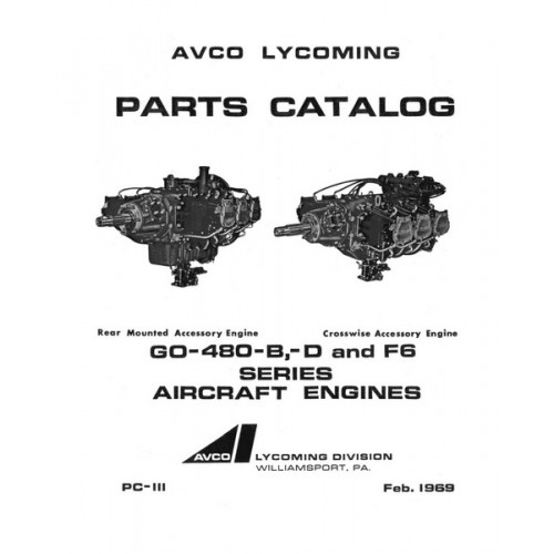 Lycoming GO-480-B,D and F6 Series Aircraft Engines PC-111