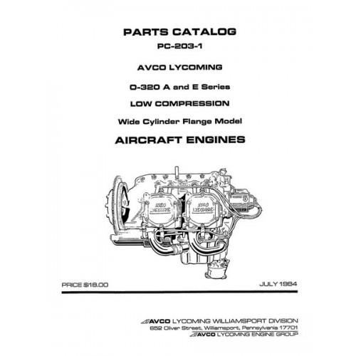 Lycoming O-320A and E Series Low Compression WCF Model PC