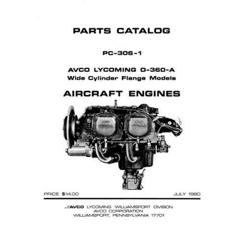 Lycoming O-360-A WCF Aircraft Engines PC-306-1 Parts