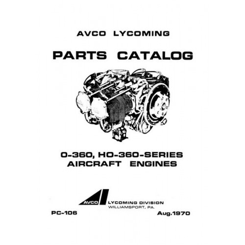 Lycoming O-360, HO-360 Series Aircraft Engines PC-106