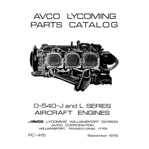 Lycoming O-540-J and L Series Aircraft Engines PC-415