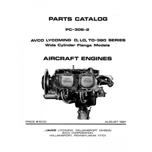 Lycoming O, LO, TO-360 Series WCF Aircraft Engines PC-306