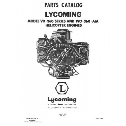 Lycoming VO-360 Series IVO-360-AIA Helicopter Engines PC