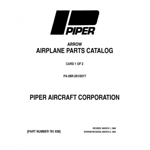 Piper Arrow PA-28R-201, 201T 761-638 Parts Catalog 1976