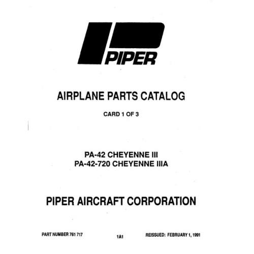 Piper Cheyenne IIIA PA-42-720 761-717 Parts Catalog 1991
