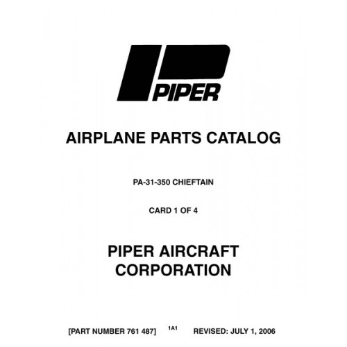 Piper Chieftain PA-31-350 761-487 Parts Catalog 1975 thru