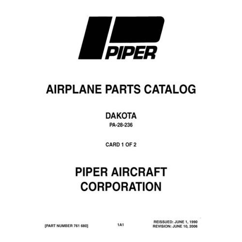 Piper Dakota PA-28-236 761-680 Parts Catalog 2006