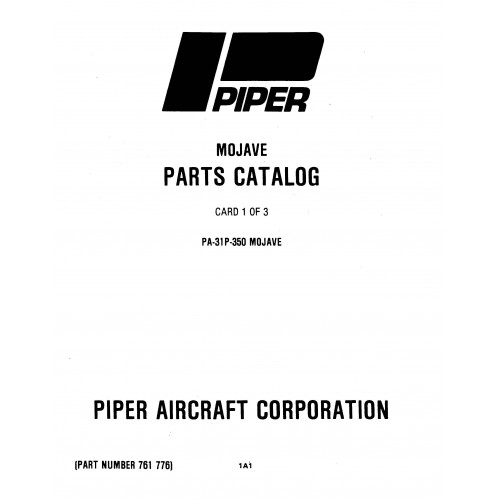 Piper Mojave PA-31P-350 761-776 Parts Catalog 1983 thru 2006