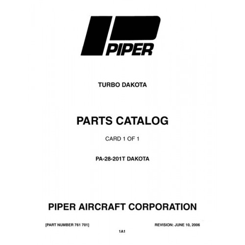 Piper Turbo Dakota PA-28-201T 761-701 Parts Catalog 1979