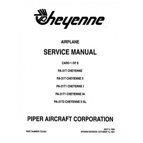 Piper Cheyenne II PA-31T 753-826 Shop Service Manual 1973