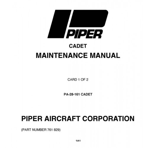 Piper Cadet PA-28-161 761-829 Service Maintenance Manual