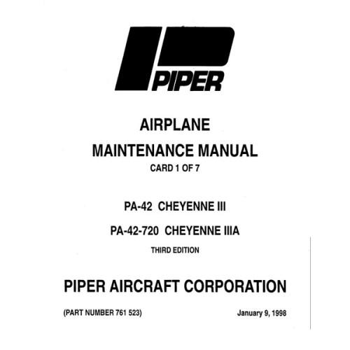 Piper Cheyenne IIIA PA-42-720 761-523 Service Maintenance