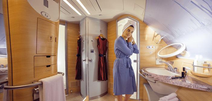 Trivia time Emirates A380 showers  Aircraft Interiors
