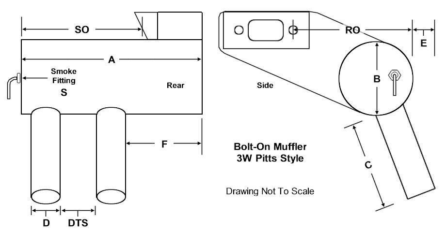 JA60K-P JA60K-P Single Cylinder Mufflers 09 : J & A Single