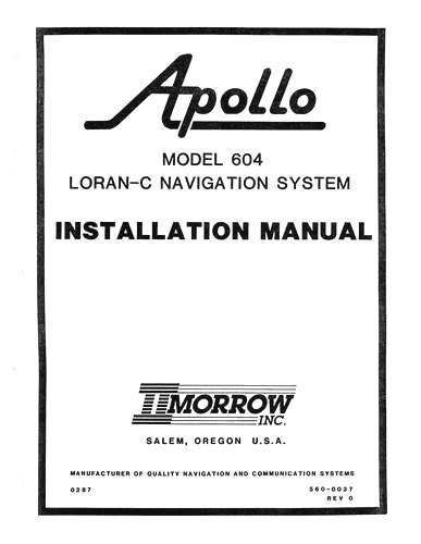 II Morrow Inc 604 Loran-C Navigation System Installation