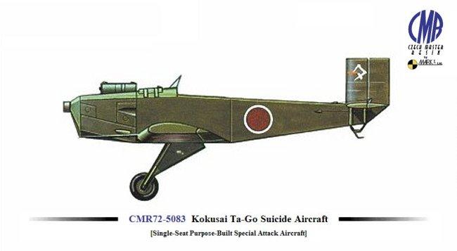 Czech Master Resin 1/72 Kokusai Ta-Go Suicide Aircraft model kit