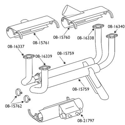AEROTAR EXHAUST SYSTEMS FOR PIPER PA-28R 180 / 200 / 201