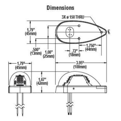 WHELEN ORION™ 650 SERIES LED WINGTIP POSITION / ANTI