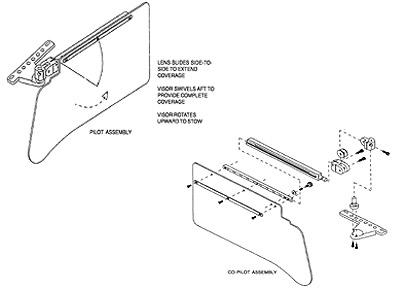 ROSEN SUN VISOR SYSTEM from Aircraft Spruce Europe