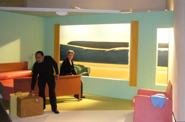 aircube project 4 - DANIS MONTERO ORTEGA, VERONIKA - EDWARD HOPPER, Western Motel, 1957, Kunsthalle Wien/A, 2008