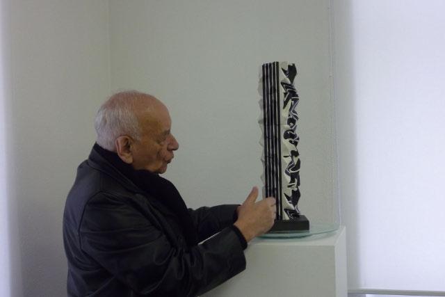 aircube project 24 - VESNA KOVACIC - EUGEN GOMRINGER presenting Vesna Kovacic sculpture, IKKP Rehau/D, 2012