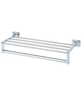 BC-9301-18 Chrome Plated Shelf w/Towel Bar Support 18
