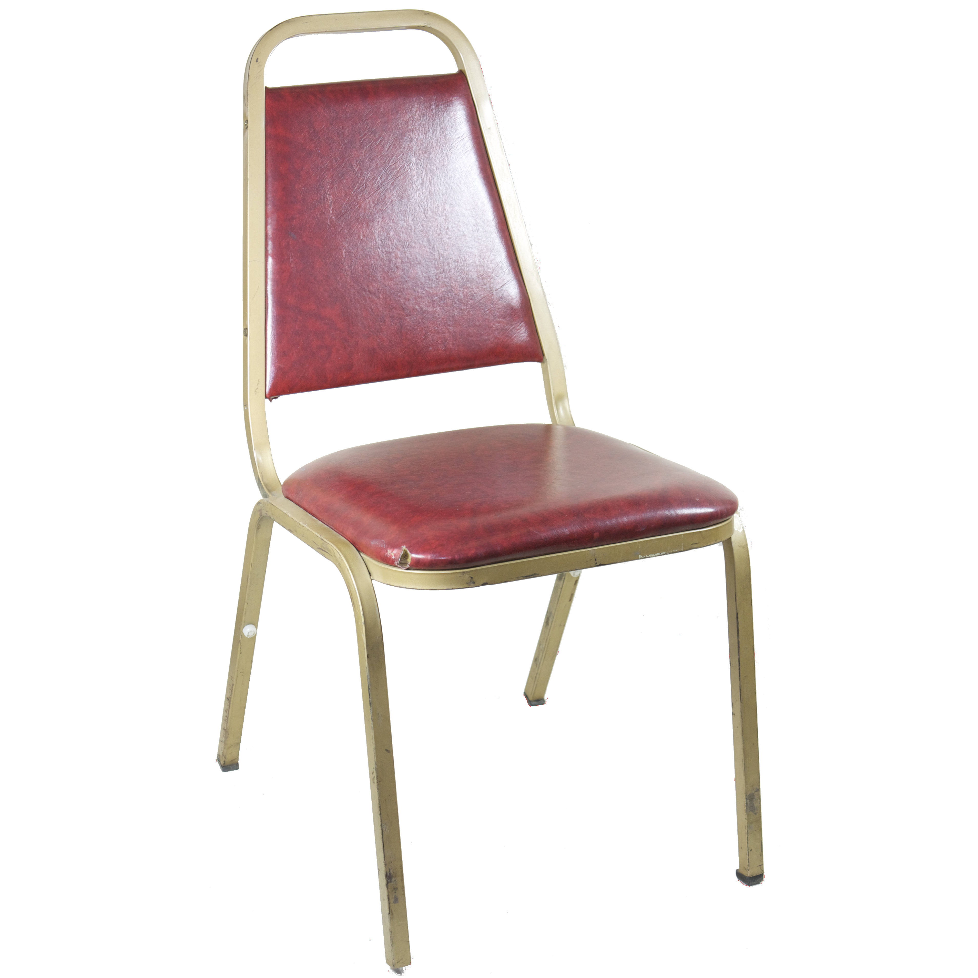 steel chair gold wedding covers ireland square back stack metal w burgundy air