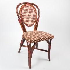 Plastic Bentwood Bistro Chairs Chair With Attached Table Rattan Maroon And Cream Air