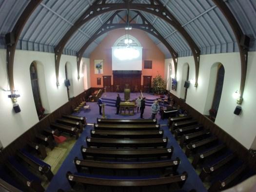 Main sanctuary at Airdrie Baptist Church