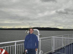 Kelly on ferry