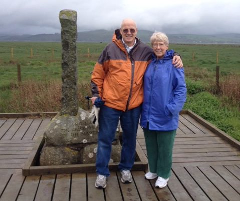 Dave and Marilyn Bartel in Wigtown