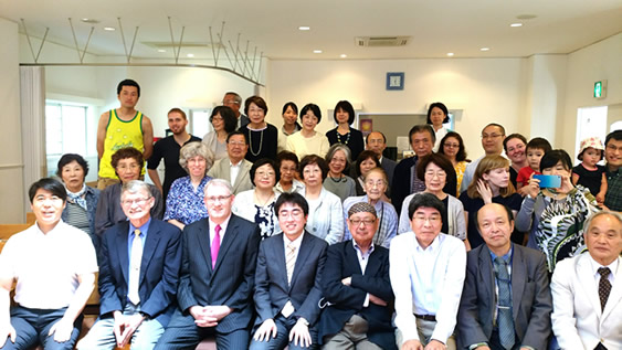 Rev. Quigley with some from the Japanese RP congregations.