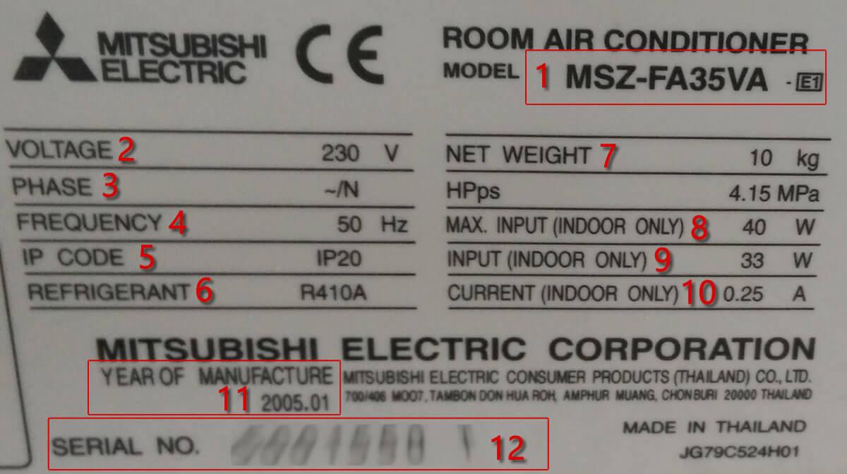 Caracter sticas t cnicas aire acondicionado for Consumo de aire acondicionado