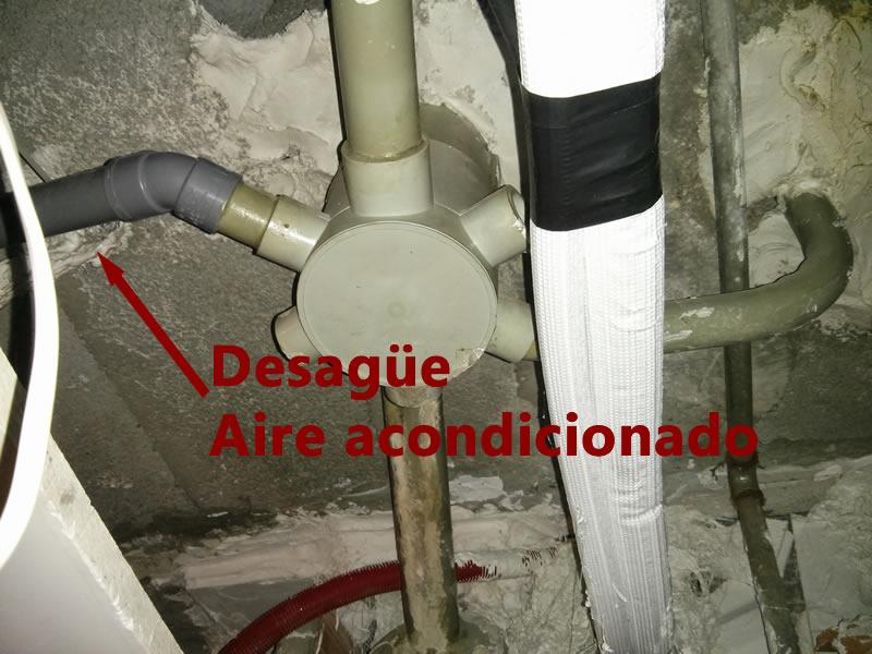 Solucion desague aire acondicionado
