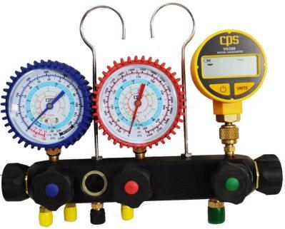 Vakum göstergesi ile manometre