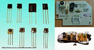 receptor infrarrojo del aire acondicionado