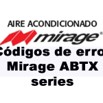 Códigos de error Mirage ABTX series