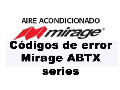 Códigos de error Mirage ABTX series