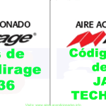 Códigos de error de Mirage ABT X36 y JAPANDO TECHNOLOGIES