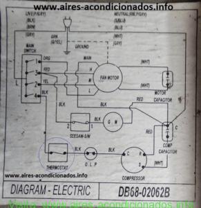 Diagrama elctrico aire acondicionado samsung explicado