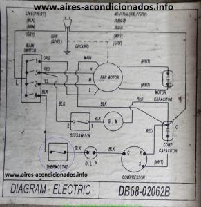 Diagrama eléctrico aire acondicionado samsung explicado