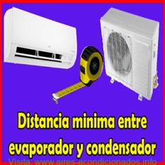 Distancia mínima entre evaporador y condensador split